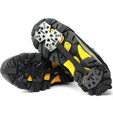 1 Pair 24-Teeth Professional Camping Climbing Ice Crampon Anti Slip Shoe Covers Ice Ski Snow Walking Shoe Spike Grip Cleats
