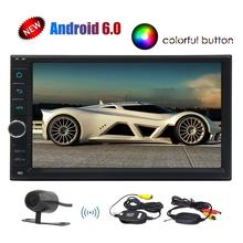 7inch Stereo Universal 2 DIN Android 6.0 Car Stereo GPS Navigation Radio Receiver Bluetooth Head Unit Phone Mirroring Car Player