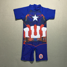 High quality comfortable boys swimwear one piece kid/children swimming suit american captain's swimsuit summer beach swimsuit(China)