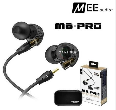 In stock 24hrs ship! Black/white Wired MEE audio M6 PRO Noise-Isolating earphones In-Ear Monitors headphones headset with box<br>