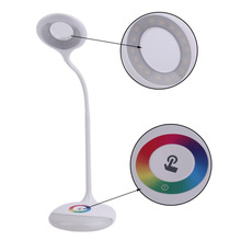 Multi-color Base Desk Lamp Touch Sensor Q6 LED Table Light Reading Lamp 256 RGB Color Changeable Round Base Atmosphere Lighgting