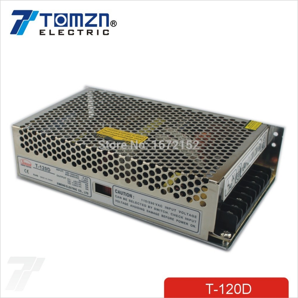 120W D Triple output 5V 12V 24V Switching power supply smps AC to DC SMPS<br>