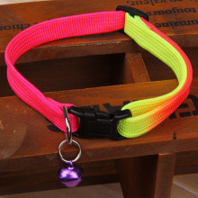 Adjustable Pet Dog collar Designer Collar For Small Dog nylon Plain collar for big small dog Colorful Rainbow Dog collar