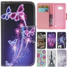 For Nokia N550 N650 Luxury Cute Cartoon Dream Butterfly Leather Flip Coque Fundas Case For Microsoft Nokia Lumia 550 650 Cover