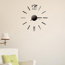 New Fashion Wall Clock Acrylic Plastic Mirror Wall Home Decal Decor Vinyl Art Stickers for Home Bedroom(China)
