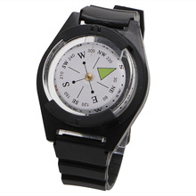 1PC ABS Tactical Wrist Compass Special For Military Outdoor Watch Black Band Hiking Gear Compasses & GPS(China)