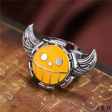 J Store Anime One Piece Trafalgar Law Rings for women Wings rotatable Punk Ring Fans Souvenir Jewelry Accessories Gift