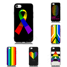 LGBT Pride Rainbow Flag Cell Phone Case For iPhone iPod 4 5s 6s 7 Plus For Nokia Lumia N5 N6 HTC For Blackberry Cover Shell Gift(China)