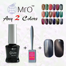MRO 2 pieces/lot China a magnet for gel nail polish uv magnetic nail polish color gel lucky gel nail lacquers vernis a ongle(China)