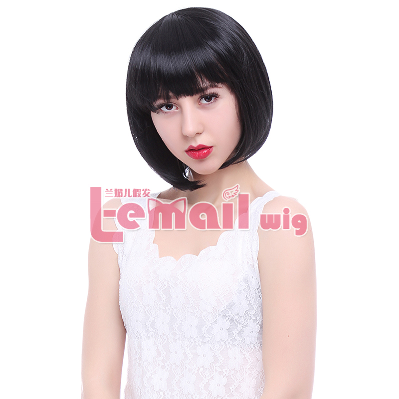 Free Shipping 10inch 4 Color Black Brown Blonde Natural Short Synthetic Bob Wig<br><br>Aliexpress