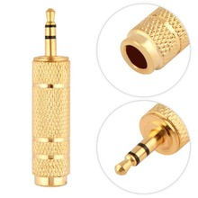 "3.5mm Male to 6.5mm 1/4"" Female Jack Plug Stereo Headphone Microphone Audio Adapter Converter AV Gold Plated Wholesale"