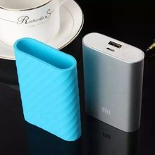 For Xiaomi 10000 mAh first generation Power Bank Case Skin High Quality Soft Silicone Rubber Protective Cover size:92mm x 72mm