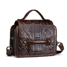 Genuine Leather Women's Vintage Handbag Crossbody Shoulder Sling Bag Little Small Tote Pouch For Girl Lady LS9008(China)