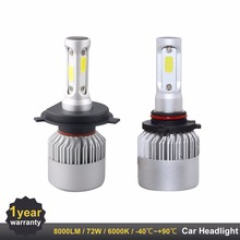 2PCS H7 LED Headlight H4 H11 H3 9005 9006 880 9012 HB3 HB4 Auto Lamps LED Lights for Cars DIY Replace for Car Headlight(China)