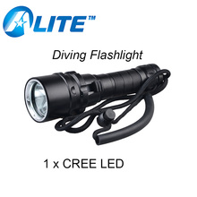 [FREE SHIP]1000 lumen Scuba Torch Powerful XM-L2 T6 Led White Red Yellow UV Diving Flashlight