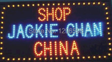 2017 Special Offer Graphics 15mm indoor Ultra Bright 15.5X27.5 Inch jackie chan china shop Led  neon open sign