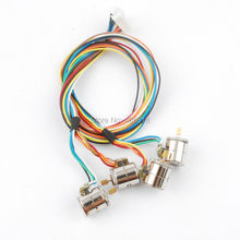 10pcs DC1.5V-3V Wire 2 Phase micro stepper motor with output copper gear Miniature stepper motor D8mm x H9.2mm