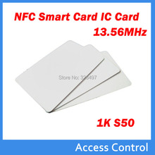 nfc tag 100pcs RFID Card 13.56Mhz MFS50  Proximity Smart Card NFC Card 0.8mm Thin For Access Control System parking nfc tags
