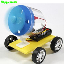 Happyxuan Diy Universal Wind-power Car Model Kits Students Handmade Science Experiment Invention Material Puzzle Educational Toy
