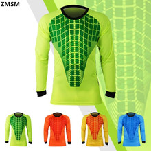 ZMSM Throwback Football Jerseys Equipacion Futbol Men Goalkeeper Uniforms Ensemble Football Survetement 2017 Goalkeeper Sets(China)