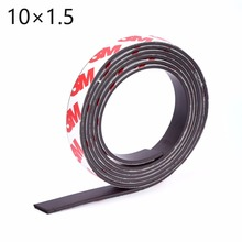 1 Meter self Adhesive Flexible Magnetic Strip 3M Rubber Magnet Tape width 10mm thickness 1.5mm Free Shipping 10*1.5(China)