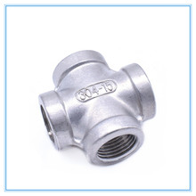"Cross Type 4 way F/F/F Threaded 1/4"" 3/8"" 1/2"" 3/4"" Pipe Fittings Stainless Steel SS 304(China)"