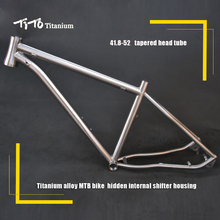 FREE SHIPPING !!! TiTo Titanium MTB bike frame 26``   27.5``  29`` 142-12 rear axle bicycle internal shifter housing