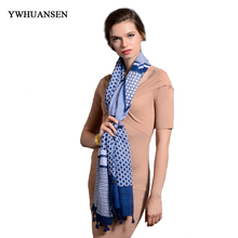 YWHUANSEN 2017 Oversized Blanket Wrap Long Shawls and Scarves Winter Brand Plaid Women Warm Scarf Fashion Striped Pashmina women(China)