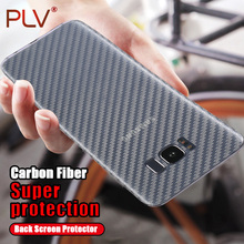 PLV Carbon Fiber 3D Soft Film For Samsung Galaxy S8 S8 Plus Note 8 S7 S6 edge Clear Scratch-protection Back Film For S3 S4 S5(China)