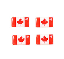 50 Pieces Epoxy Canada Flag Car Steering Wheel Styling Stickers Decorations 3D Canada Flag Small Car Audio Centre Panel Emblems(China)