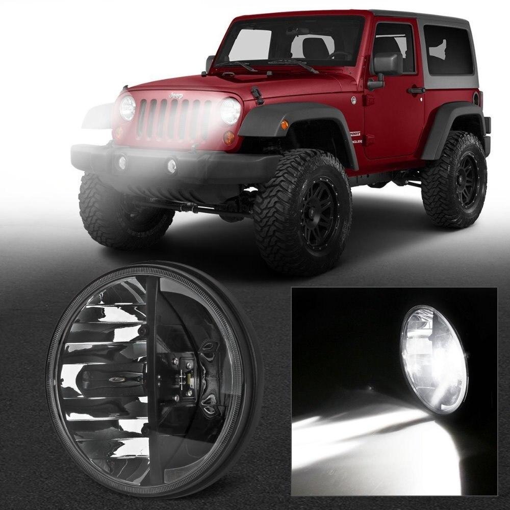 2PCS 7 INCH 36W LED Headlight Conversion kits HIGH LOW Beam  For 97-16 Jeep Wrangler JK CJ Work Light<br><br>Aliexpress