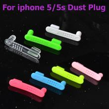 2 in 1 Colorful 5pcs 3.5mm headphone jack plug + charger Usb port anti dust plug for iphone 5g 5s 5c cell phone accessories