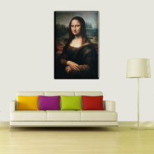 Canvas Art Print World Famous Painting Mona Lisa By Piero da Vinci Canvas Poster Smile For Living Room Home Decor Unframed LZ006(China)