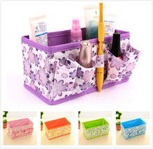 Multifunction Folding Makeup  Storage Box Toys Nonwoven Fabric Cloth Storage Boxes Desktop Flower Organizer Bags GYH