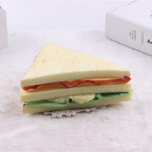 5Pc 14CM Fool's Day Props Jokes Kids' Kitchen Toys Simulated Food Sandwich Bakery Advertising Photography Props Squishy Toy(China)