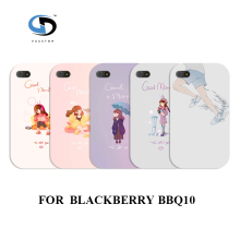 design Cell phone cases cover white hard cases for blackberry Q10 GIRL Fashion phone Back Cover