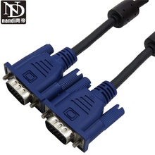 vga to vga 15 Pin SVGA VGA Monitor Male To Male  Cable Cord for PC TV Connector adapter Cord Extension Monitor FOR PC TV 1.5m
