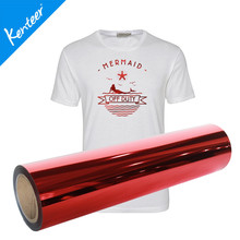 Q4 Kenteer 0.5*25m/Roll 10colors Metallic Heat Transfer Vinyl For T-Shirt