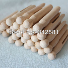 50 x Natural wood dolly peg Traditional Dolly Style Wooden Clothes Pegs New Good Condition Party Decor