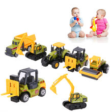5 Types Diecast Mini Alloy Construction Vehicle Engineering Car Dump-car Dump Truck Model Classic Toy Mini Gift for Boy