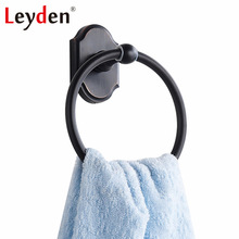 Leyden ORB Towel Holder Stainless Steel SUS 304 Oil Rubbed Bronze Towel Rings Wall Mounted Towel Ring Black Bathroom Accessories(China)
