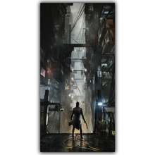 Deus Ex IV V Mankind Divided 3'Size Silk Fabric Canvas Poster Print Video Game Class Home Decor Wallpaper YX719(China)