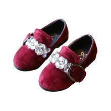 little girl causal shoes elegant sweet crystal princess shoes for 3-6yrs girls children kids Europe retro party dance shoes hot