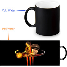 Quake morphing coffee mugs 12 OZ/350ml transforming mug changing color heat sensitive Tea Mugs