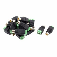 4pcs Cat5 terminal block to Camera CCTV Video Balun Phone RCA Female Jack Adapter