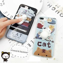 Buy Funny 3D Cartoon Squishy Animals Case iphone 7 6 6s Plus Cover Soft Silicone Squishy Squeeze Cat Seal Bear Toy Phone Cases for $2.04 in AliExpress store