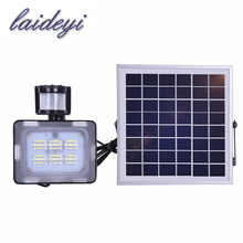 Buy LAIDEYI hot selling solar 12v 10w led flood light motion sensor 12VDC 24VDC IP65 waterproof led security patio flood light for $25.60 in AliExpress store