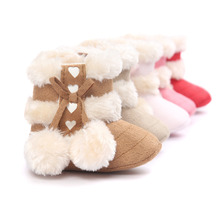 Winter Baby Infant Boots Super Warm Baby Boys Girls Lovaly Heart Winter Shoes Keep Warm Baby First Walkers 5 Colors 3 Size