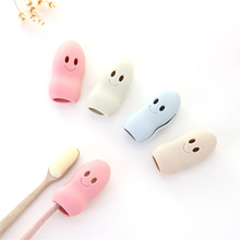 New Cheap 2pcs/set Cute Cartoon Smile Face Travel Toothbrush Children Portable Toothbrush Box Bathroom Toothbrush Dustproof Set