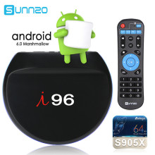 Buy I96 Smart Android 6.0 TV Box 1GB/8GB eMMC ROM Amlogic S905X Quad Core 4K Wifi LED Set-top Box Media Player Pre-installed Kodi for $35.99 in AliExpress store